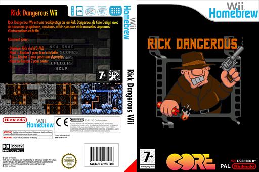 Wii Rick Dangerous pochette Homebrew (DGGA)