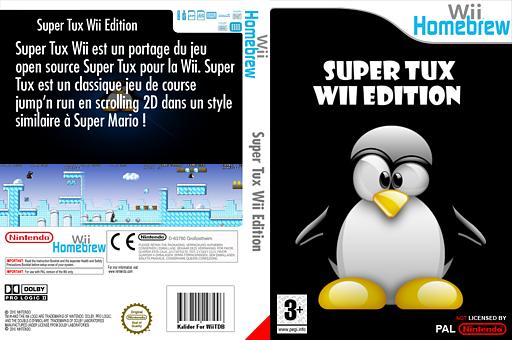 SuperTux Wii pochette Homebrew (DSWA)