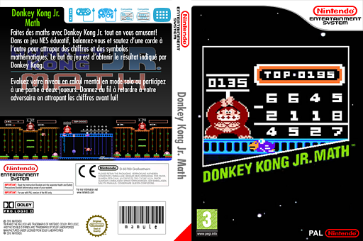 Donkey Kong Jr. Math pochette VC-NES (FA6P)