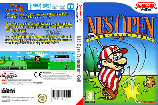NES Open Tournament Golf pochette VC-NES (FAPP)