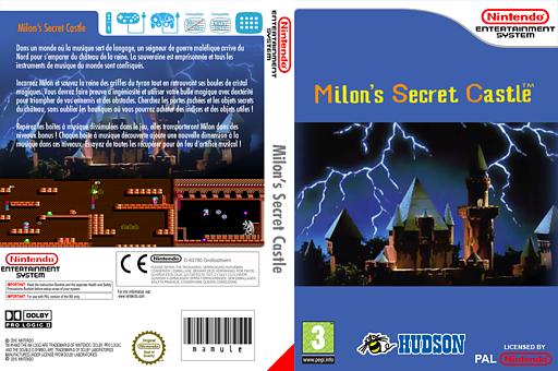 Milon's Secret Castle pochette VC-NES (FBSM)