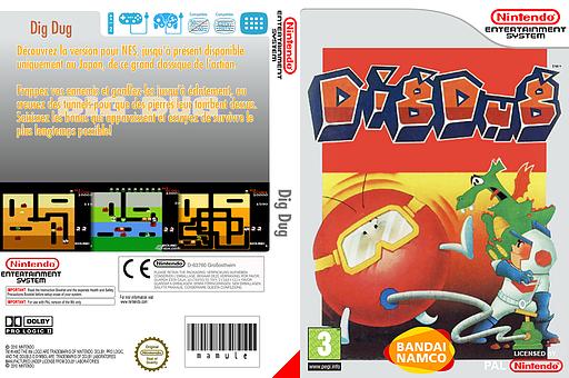 Dig Dug pochette VC-NES (FEDL)