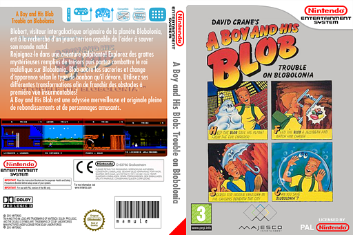 A Boy and His Blob : Trouble on Blobolonia pochette VC-NES (FFEP)