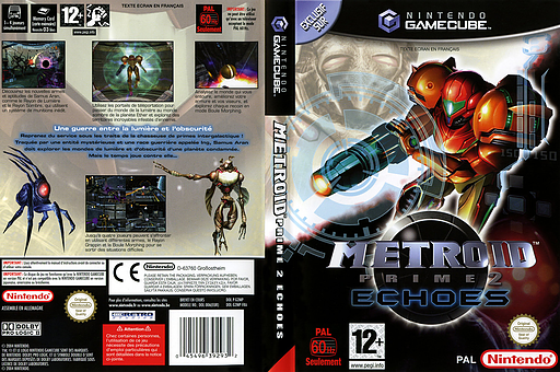 Metroid Prime 2: Echoes pochette GameCube (G2MP01)