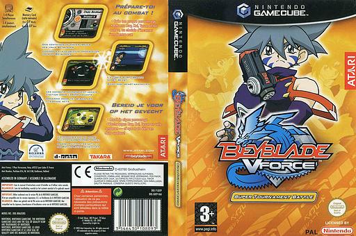Beyblade VForce - Super Tournament Battle pochette GameCube (GBTP70)