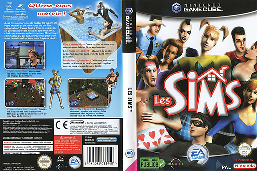 Les Sims pochette GameCube (GCIP69)