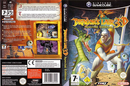 Dragon's Lair 3D Special Edition pochette GameCube (GDGP78)