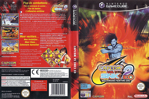 Capcom vs. SNK 2 EO: Millionaire Fighting 2001 pochette GameCube (GEOP08)