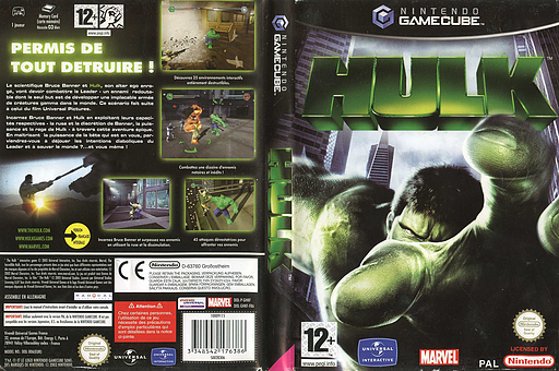 Hulk pochette GameCube (GHKF7D)