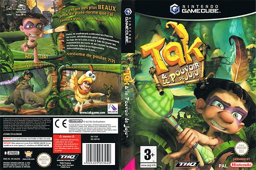 Tak et le Pouvoir de Juju pochette GameCube (GJUF78)