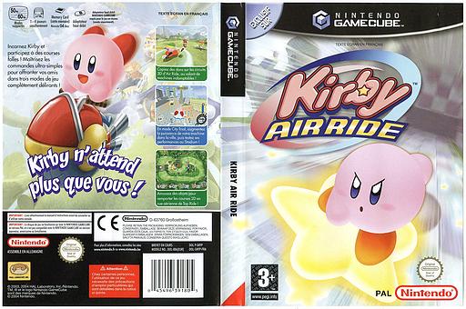 Kirby Air Ride pochette GameCube (GKYP01)