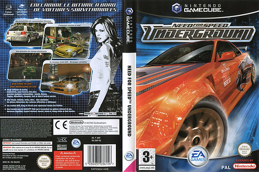 Need for Speed: Underground pochette GameCube (GNDF69)