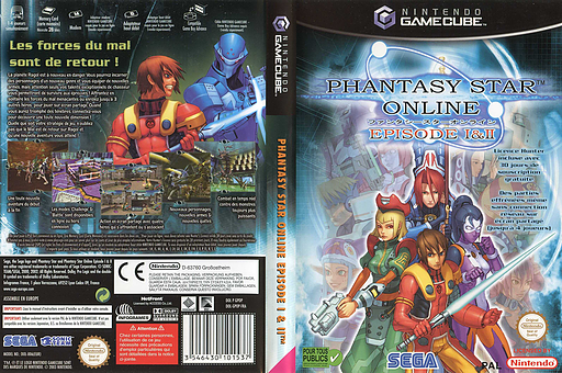 Phantasy Star Online Episode I&II pochette GameCube (GPOP8P)