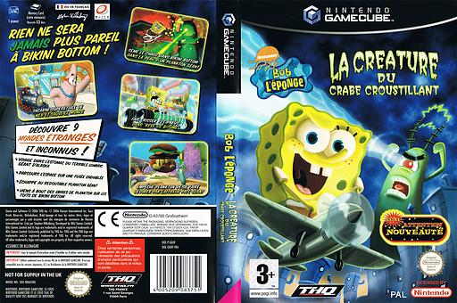Bob L'éponge: La Créature du Crabe Croustillant pochette GameCube (GQ4F78)