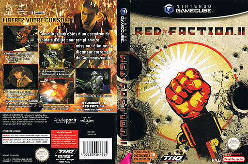 Red Faction II pochette GameCube (GRFF78)