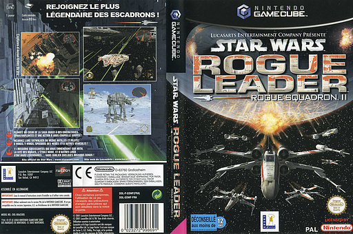 Star Wars Rogue Squadron II: Rogue Leader pochette GameCube (GSWF64)