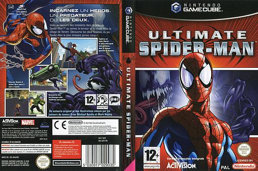 Ultimate Spider-Man pochette GameCube (GUTF52)