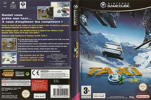 Taxi 3 pochette GameCube (GXQF41)