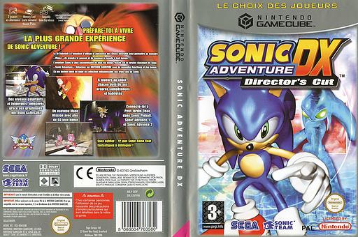 Sonic Adventure DX:Director's Cut pochette GameCube (GXSP8P)