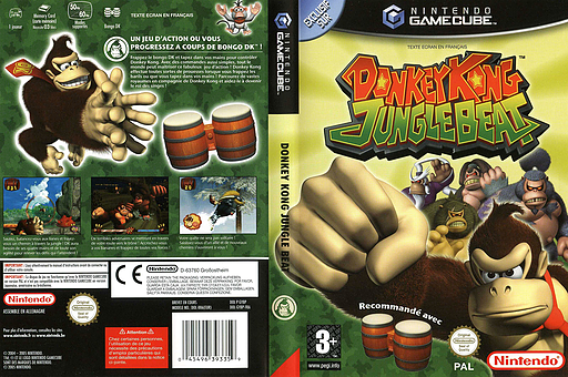 Donkey Kong Jungle Beat pochette GameCube (GYBP01)