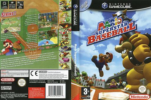 Mario Superstar Baseball pochette GameCube (GYQP01)