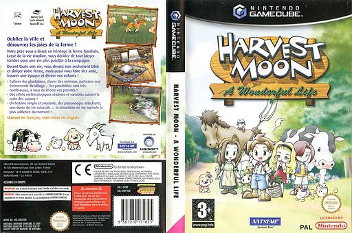 Harvest Moon: A Wonderful Life pochette GameCube (GYWPE9)