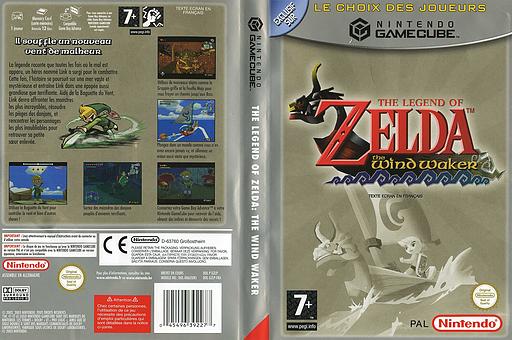The Legend of Zelda: The Wind Waker pochette GameCube (GZLP01)