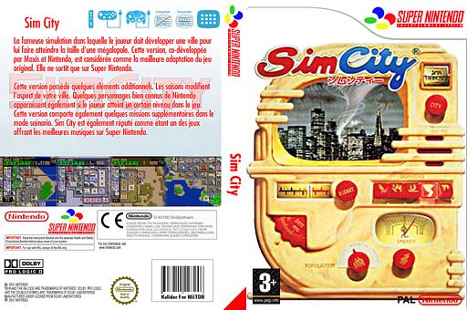 SimCity pochette VC-SNES (JAFP)
