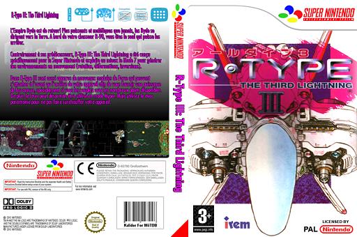 R-TYPE III:The Third Lightning pochette VC-SNES (JAHP)