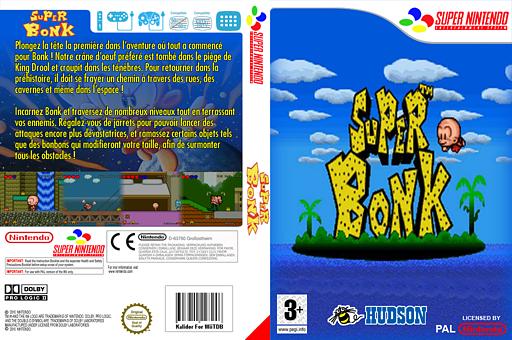 Super Bonk pochette VC-SNES (JD9M)