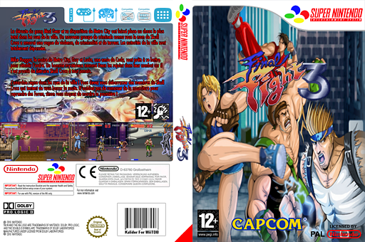 Final Fight 3 pochette VC-SNES (JDEP)