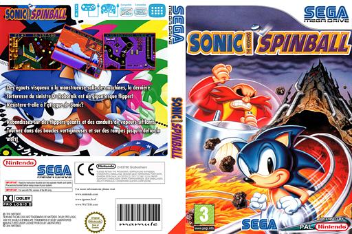 Sonic Spinball pochette VC-MD (MATP)
