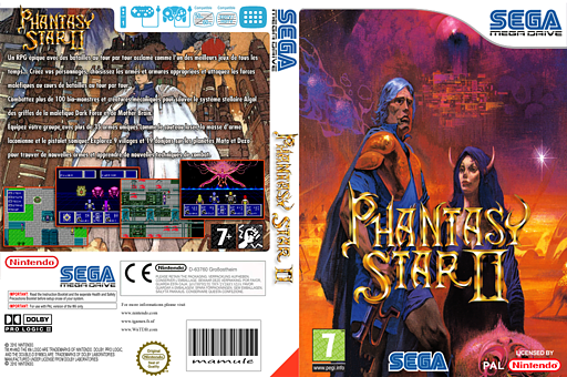 Phantasy Star II pochette VC-MD (MB8P)