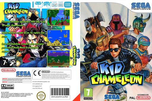 Kid Chameleon pochette VC-MD (MBCP)