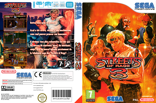 Streets of Rage 3 pochette VC-MD (MBQP)