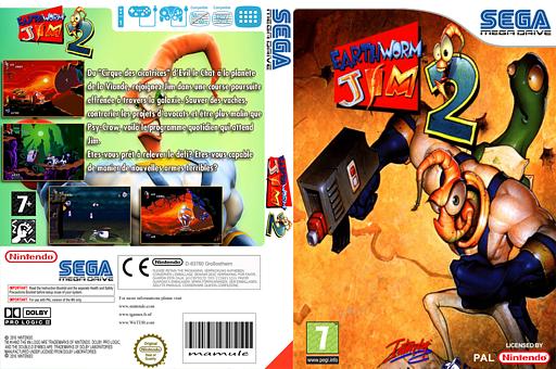 Earthworm Jim 2 pochette VC-MD (MC2P)