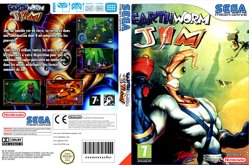Earthworm Jim pochette VC-MD (MCPP)