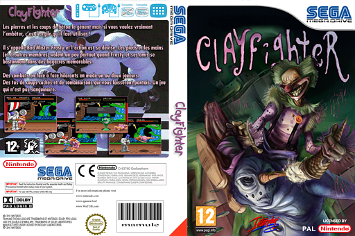 Clay Fighter pochette VC-MD (MCTP)
