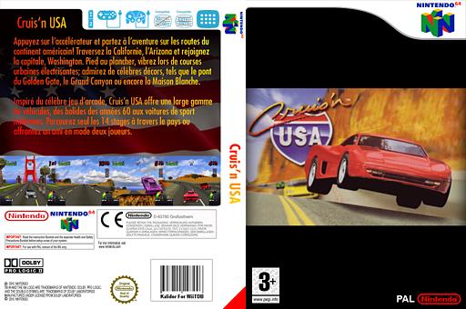 Cruis'n USA pochette VC-N64 (NASP)