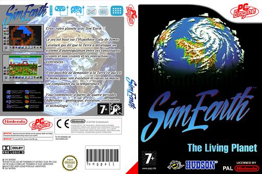SimEarth:The Living Planet pochette VC-PCE (QA3P)