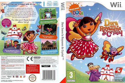 Dora Sauve le Royaume de Crystal pochette Wii (R27X54)