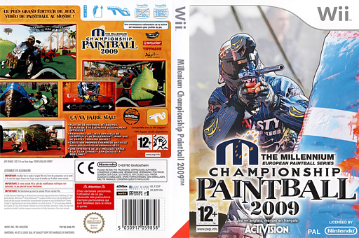 Millennium Championship Paintball 2009 pochette Wii (R29P52)