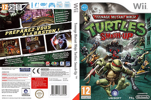 Teenage Mutant Ninja Turtles: Smash-Up pochette Wii (R2TP41)