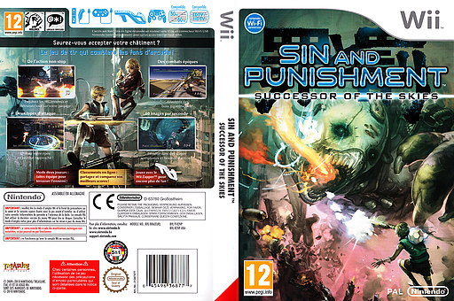 Sin and Punishment : Successor of the Skies pochette Wii (R2VP01)