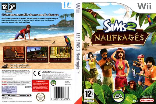Les Sims 2:Naufragés pochette Wii (R42P69)
