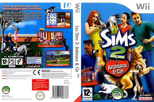 Les Sims 2:Animaux & Cie pochette Wii (R4PP69)