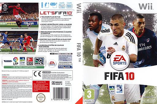 FIFA 10 pochette Wii (R4RY69)