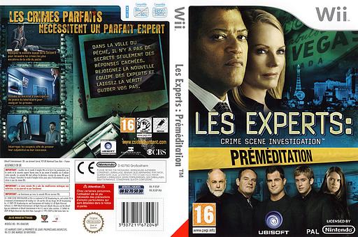 Les Experts:Préméditation pochette Wii (R5UP41)