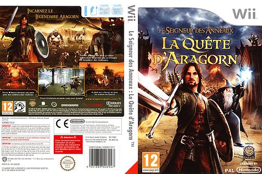 Le Seigneur des Anneaux:La Quête d'Aragorn pochette Wii (R8JPWR)