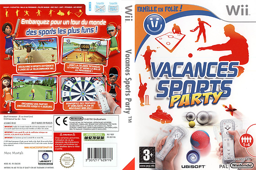 World Sports Party pochette Wii (R8SX41)